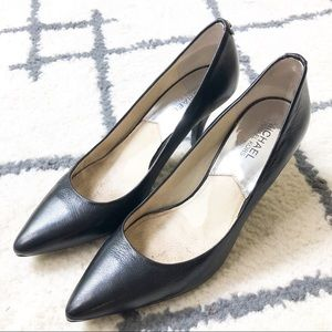 Michael by Michael Kors Black Pointed Heels
